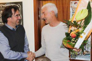 Hermann Efferz (r.) dankte Klaus Dünker für zwei Jahre Vorstandsarbeit an der Kulturlant-Spitze.
